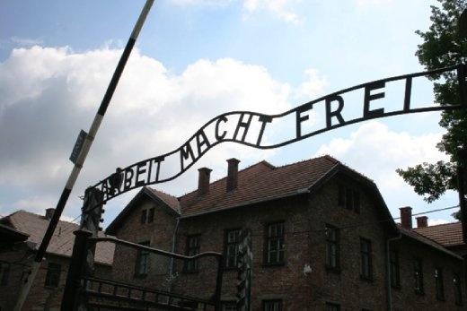 Entrance to Auschwitz -