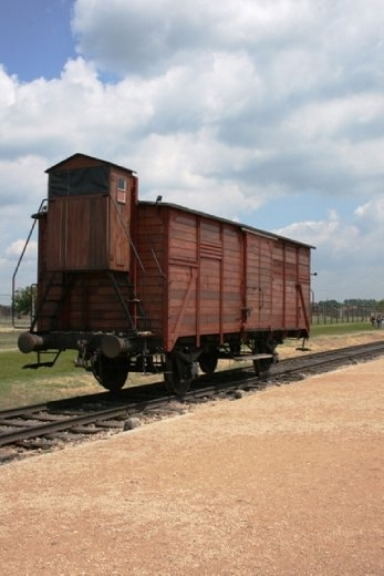An example of the cattle cars used to ship people into the camps