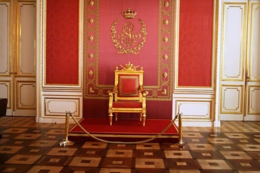 The Royal Throne inside the Royal Castle