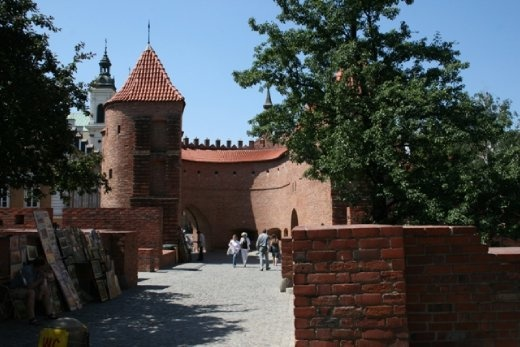 Warsaw barbican - a barbican (semicircular fortified outpost) in and one of few remaining relics of the complex network of historic fortifications that once encircled Warsaw.
