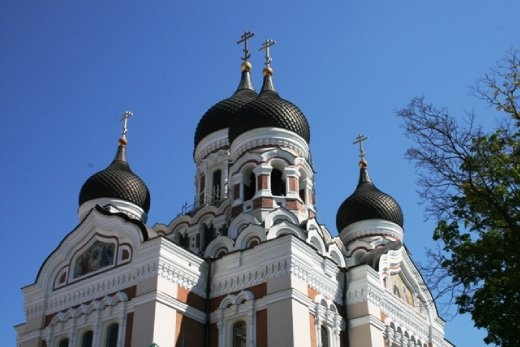 Alexander Nevsky Cathedral on the hill of Toompea