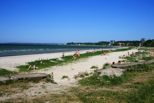 Tallin beach - bit nicer than the last 'beaches' I've visited but the water was still pretty cold - also not that keen swimming so near to the ferry channel...