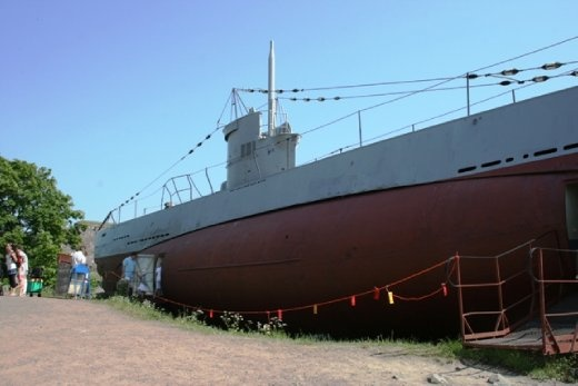 The last surviving Finnish submarine, Vesikko.