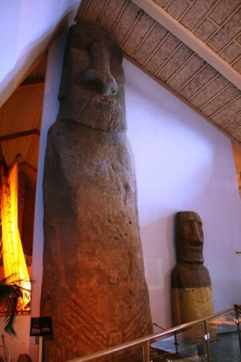 Model of one of the heads from Easter Island