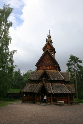 Another view of the stave church-  it smells really nice inside