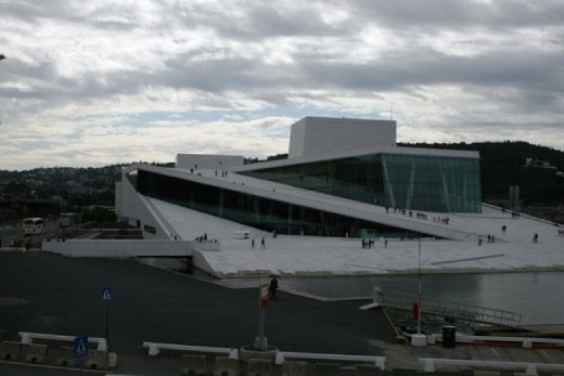 The Opera House - built to resemble a glacier