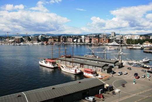 View of the harbour in Oslo