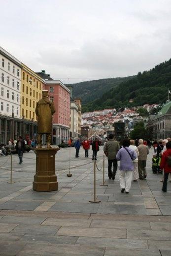 The main drag in Bergen