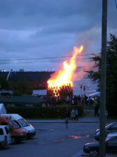 Bergen Bonfire celebrating the summer solstice