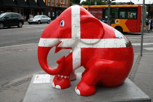 The Elephant Parade, where over a 100 Danish international artists have designed the painted elephants scattered throughout the city to support the Asian Elephant Foundation.