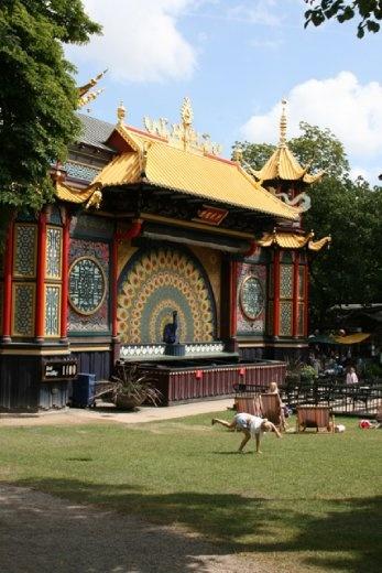 Stage set in the Tivoli Park