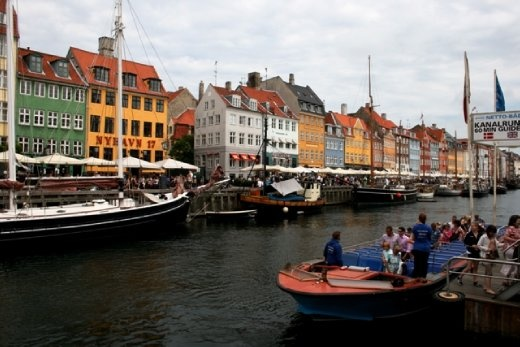Nyhavn (New Harbour) where Hans Christian Anderson used to live
