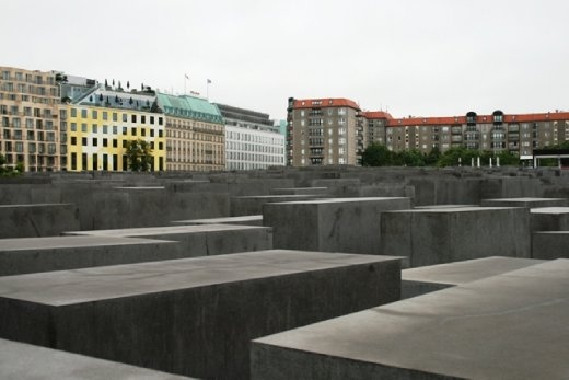 The Holocaust memorial, designed by Peter Eisenman, is dedicated to the memory of the thousands of Jews murdered by the Third Reich prior to and during World War II.