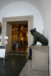 Wolf standing guard at the Aachen Cathedral: by drmitch, Views[370]