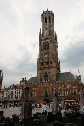The belfry of Bruges, or Belfort, formerly housed a treasury and the municipal archives, and served as an observation post for spotting fires and other danger.