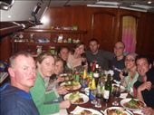 the crew at dinner on the boat: by ed, Views[145]