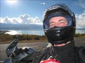 Goofy looking guy on the motorcycle that kept following me.: by ed_loebach, Views[209]