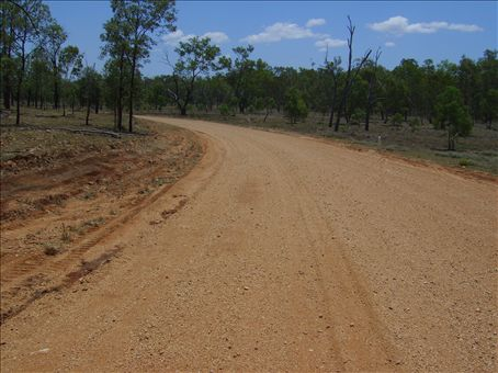 This was the main road at Coan Creek - it got a bit sl;ippy during the rains !