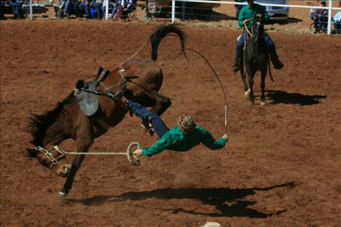 And falling off in the Station Buck Jump