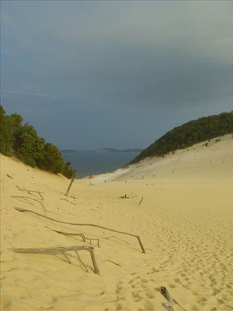 At Last - A picture of the Sandblow at Rainbow Beach.  What a great place