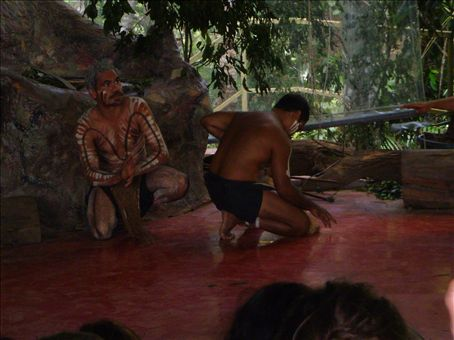 Some Aboriginal dancing.  I've booked them to appear at Andy & Em's wedding reception !!