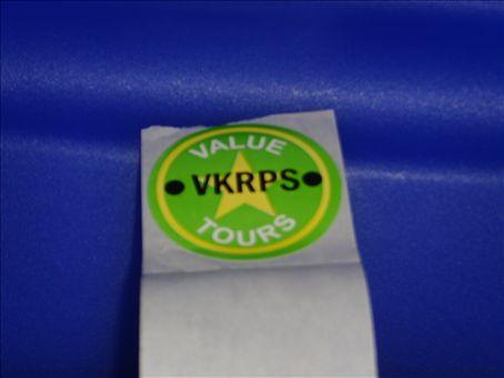 My 'Value Tours' sticker