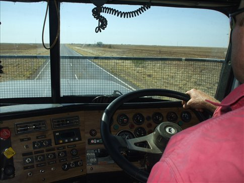 View from the roadtrain