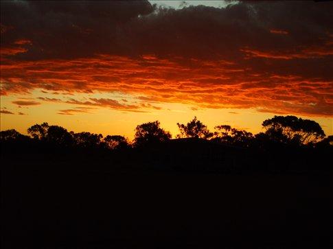 A spectacular sunset over Jessievale