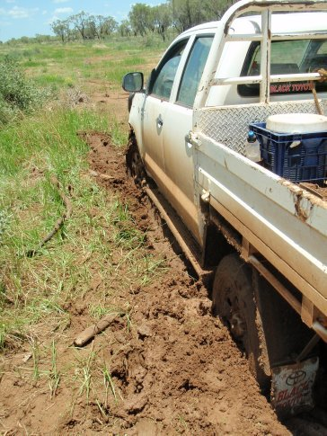 Bogged up to the diffs !!