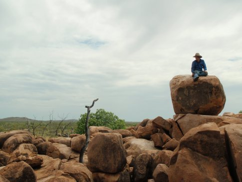 Me sitting on a rock