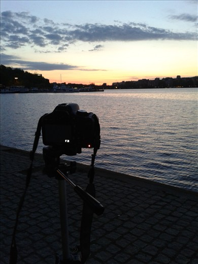 Prepared for a long night of night photography, Stockholm