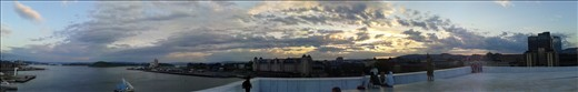 Panoramic shot from The Opera House, Oslo