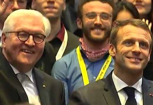 With the French and German presidents!