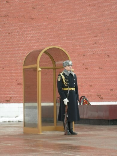 Guard duty, Moscow style!