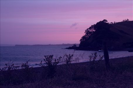 sunset at home bay.