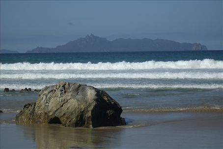 Beautiful west coast beach. There was a shark attack not too  far from here last week.