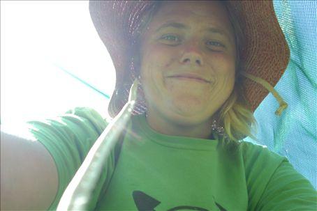 me in my sweet gardening hat.