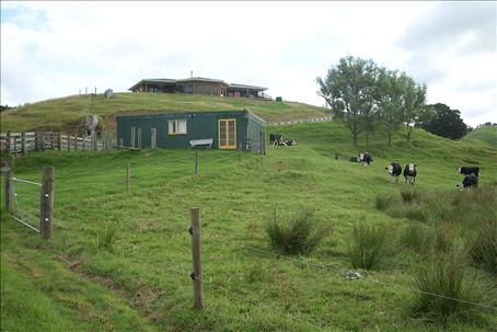 my bunkhouse and the house in back