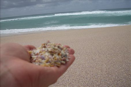 there was no sand. Just shells.