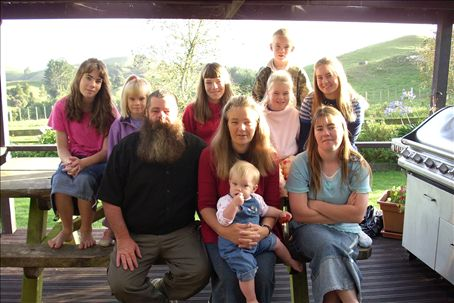 the family: 10 girls and one boy!