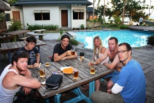 Some of the Beachouse crew.