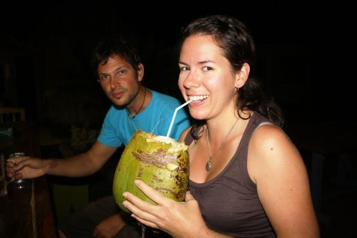 Bron - cocktail in a coconut at long last. Thanks to ben for getting the coconut, and Blicks for the rest.