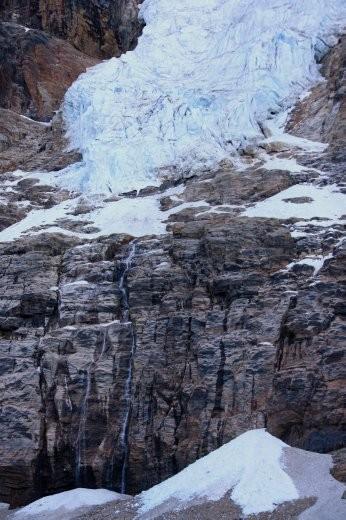 Angel Glacier and falls, Mt Edith Cavell, Jasper NP