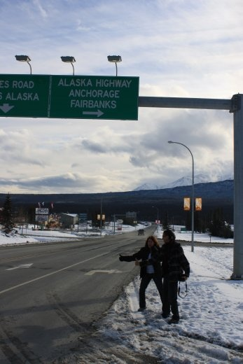 Alaska Highway hitching