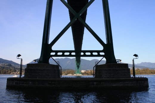 The Lion's Head Gate, out of Stanley Park.