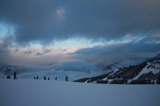 Sunrise off Blackcomb Mountain