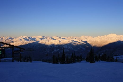Sunset from Whistler, riding home from Harmony.