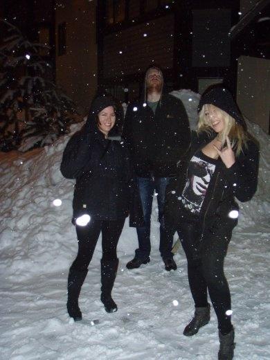Late night fun in the snow with JoJo