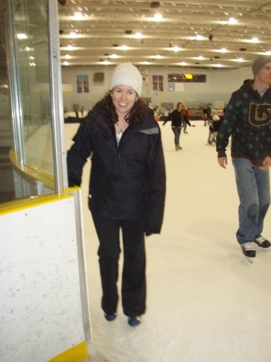 Bron ice-skating. We went full retard on this one, but no falls recorded!