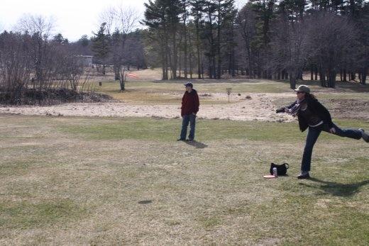 Actual real-life disc golf action